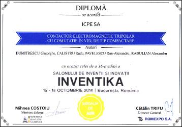 Diploma INVENTIKA 2014