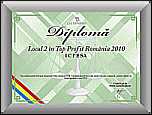 2nd place in Top Profit Romania 2010 Domain 7219