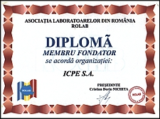 Diplomă membru fondator