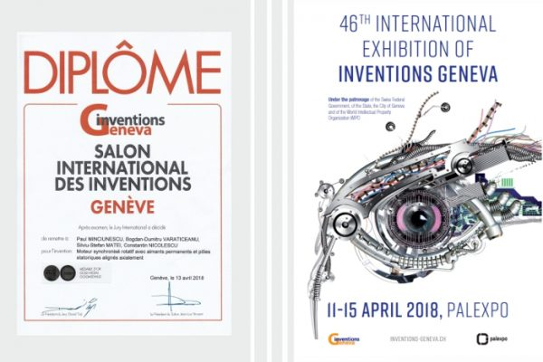 Gold medal at International Exhibition of Inventions Geneva